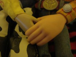 Woody and Jessie holding hands by spidyphan2