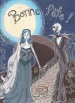Jack and Corpse Bride by Lianhuajinse