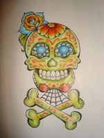 Day Of The Dead Sugar Skull by StrangerToMost