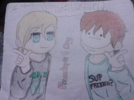 Pewdiepie and Cry (colored) by SUJU2SHINee