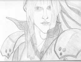 Sephiroth sketch by request by kjang