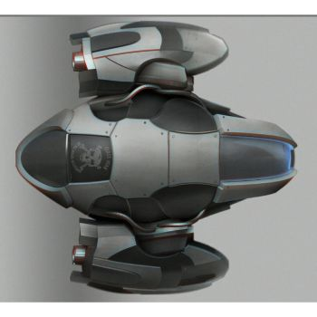 Hard surface practice - Ship Design top view by zalxemptyx