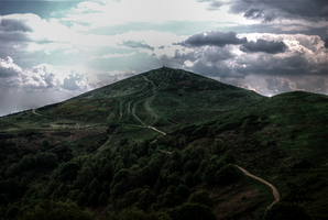 Tone mapped HDR Malvern Hills by sharkbite1414