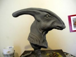 Parasaurolophus in Progress by Thomasotom