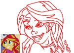 Sunset Shimmer Redraw WIP by Tastes-Like-Fry