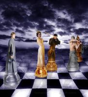 Chess war-Move two by Fawania
