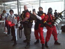TF2 cosplay group by GingerwithHat