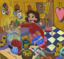 cooking with help by KassandraHeller