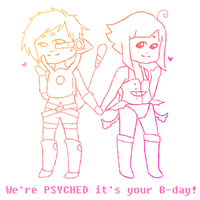Psyched its your birthday by rayne-storme