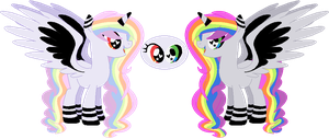 Pastel Rainbow the LIXI -  Mary Sue Adopt (CLOSED) by Scribbles-Adopts