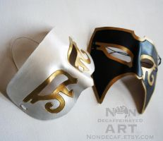custom white and gold eye mask by nondecaf