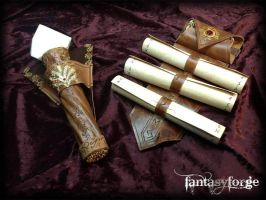 LARP EQUIP: Mage belt accessories I by FantasyForgeLARP