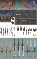 Hellgate:London- weapons props by HOON