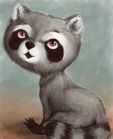 Just a little raccoon by Melmolly