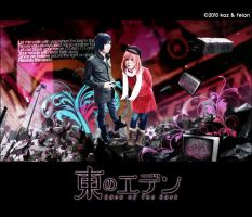 Eden of the East: Falling Down by kaziest