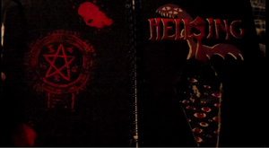 The front and back of my Hellsing sketchbook by LaLaLaNiceLady