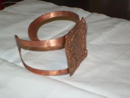 Copper Cuff from the side by Smycken-Prinsessa