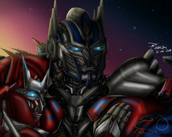 AOE Optimus and Causeway by Lady-ElitaOne