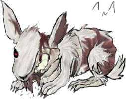 Zombie Rabbit by Ms-Silver