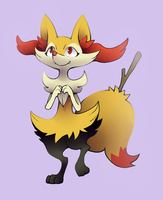 Braixen by Trinosaur