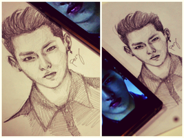 Wu yi fan (kris) Sketch by Peszymer