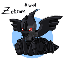 :RESUBMIT: Zekrom by hyperfluffball