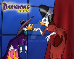 Darkwing Duck and Morgana by KaoriMirai