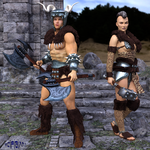 Barbarian Warriors by scifigiant