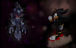 Shadow vs. Mephiles Fight by drsteve5794