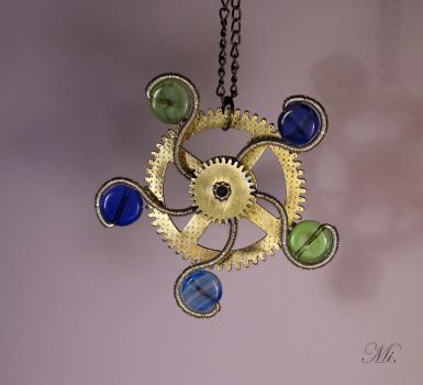 Steampunk pendant 43 by TheCraftsman