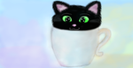 The kitty in the cup by ladygamer999