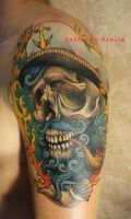 Tattoo -  Skull Captain by Xenija88