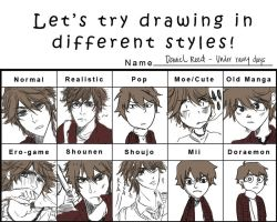Different styles meme - Daniel by Suihowl