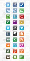 30 Social Media Icons by imonedesign