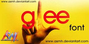 Glee Font by ASMH