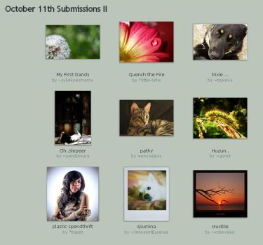 October 11th Submissions II by Optimal-Photo