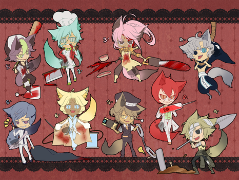 Adoptables: Nine Lives 01 [CLOSED] by tofumi