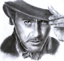 Robert Downey Jr. as Sherlock Holmes by Cool-Ice-94