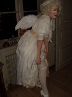 Even Angels (silk stockings) Will Fall.. by LadyCafElfenlake