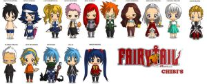 Fairy Tail Chibi's by ChibiReaperArts