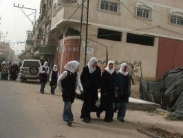 Gaza children return to school by ademmm