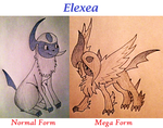 COMM: Elexea - Normal and Mega Forms by KJB-Believer-2014