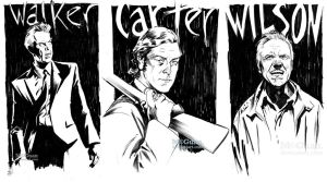 Warm-Up Sketch Triptych by mcguan
