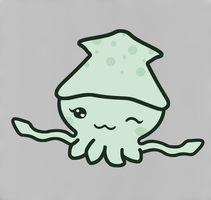 Kawaii Squid by Fritters