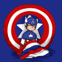 Captain America Baby by IslandMyths
