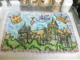 Baby Shower Castle Cake by FrozenShade6669