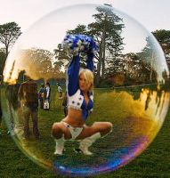 Cheerleader in bubble by blunose2772