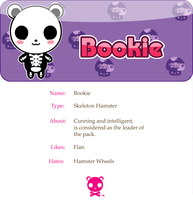 Bookie the Skeleton Hamster by mAi2x-chan