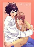 L and Light by Lawliet-san