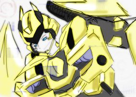 bee anime style by autodi
